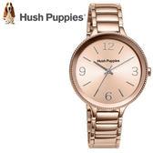 【萬年鐘錶】 Hush Puppies 都會女錶  玫瑰金  不鏽鋼  35mm HP.3830L.1505