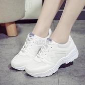 【免運】白色運動鞋女正韓小白鞋女休閒學生女鞋單鞋潮平底跑步鞋