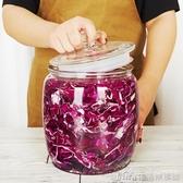 泡菜壇子玻璃密封罐帶蓋加厚腌制咸菜玻璃缸家用8斤小號酸菜罐子 NMS生活樂事館