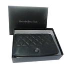 Mercedes-Benz :對摺皮夾(大) - 菱格紋 - MBS10320101