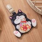 Kiro貓‧賓士貓 拼布 造型平安符/收納袋夾/寶寶香火袋【820164】