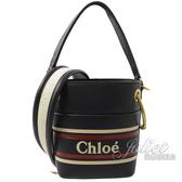 茱麗葉精品【全新現貨】CHLOE Roy Mini 小牛皮束口手提兩用水桶包.海軍藍