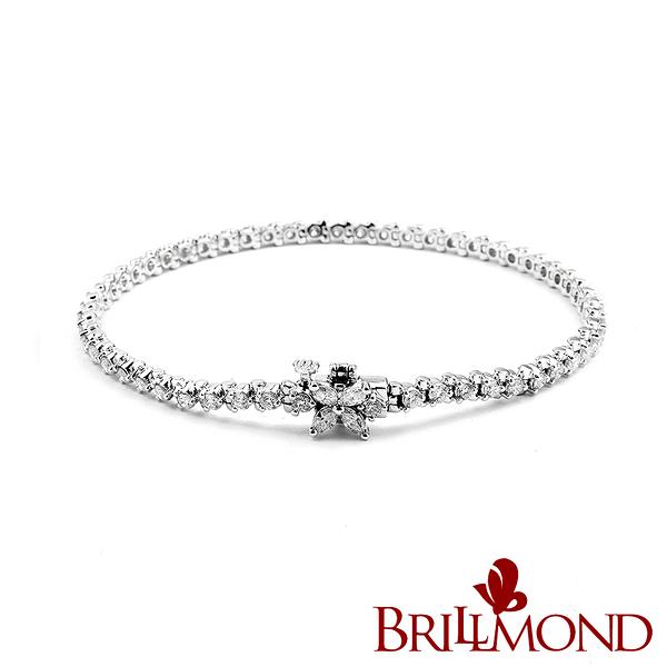 鑽石手鍊 BRILLMOND 為愛璀璨2克拉滿鑽手鍊(18K白金)