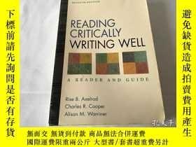 二手書博民逛書店Reading罕見critically, writing wellY8204