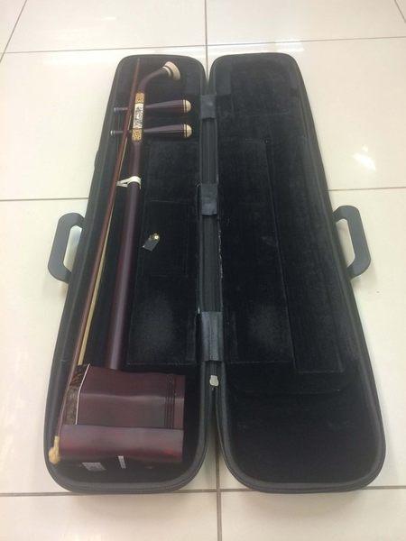 【金聲樂器廣場】全新 紫檀木精品鑲骨二胡 孔振平 附高級琴盒