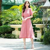 春夏7折[H2O]可當外套雪紡刺繡布附內搭長洋裝 - 藍/白/粉色 #0674012