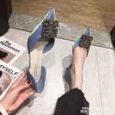 高跟鞋鞋子高跟鞋女細跟2020年春季新款韓版時尚仙女鞋INS網紅尖頭單鞋 萊俐亞