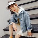 女童牛仔衣韓版潮春裝大童洋氣春季童裝時髦夾克兒童外套 交換禮物