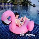 【24H】粉色天鵝 紅鶴 火烈鳥 超人氣 泳圈 浮床 造型泳圈 150CM 送充氣筒