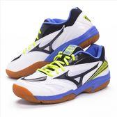 樂買網 MIZUNO 18SS 基本款 排羽球鞋 GATE SKY 寬楦 71GA174011 藍x黃