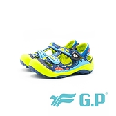 【G.P】兒童磁扣護趾涼鞋 童鞋-藍綠(另有桃粉、黃)