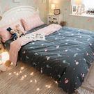 佛朗明哥紅鶴 K3 Kingsize床包雙人兩用被四件組 100%復古純棉 極日風 台灣製造 棉床本舖