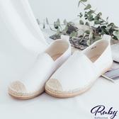鞋子 RCha。拼接草編休閒平底小白鞋-Ruby s 露比午茶