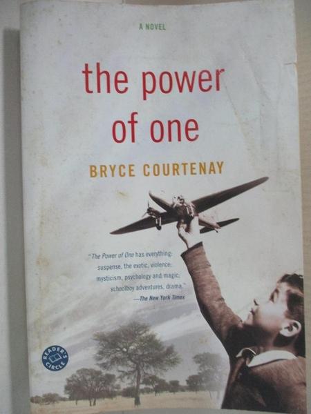 【書寶二手書T9/一般小說_CY7】The Power of One_Courtenay, Bryce