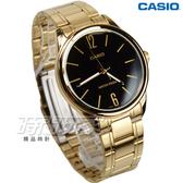 CASIO卡西歐 MTP-V005G-1B 簡約數字時刻 指針男錶 學生手錶 金電鍍x黑面 防水手錶 MTP-V005G-1BUDF
