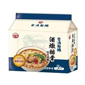台酒麵攤酒燉排骨風味湯麵95G*5【愛買】