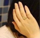 ►歐美復古鑲鑽愛心LOVE字母雙指環 戒指【B2053】