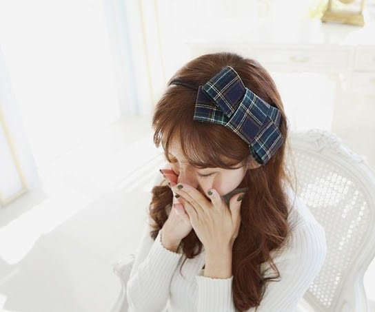 [協貿國際]  韓式學院風大蝴蝶結髮箍頭飾 (4個價)