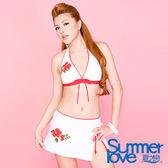 【夏之戀SUMMERLOVE】性感白色比基尼三件式泳衣-B7791