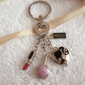 包扣巴黎女人汽車鑰匙扣女士掛件 鑰匙鍊 圈   玩趣3C