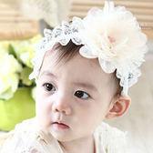 氣質蕾絲彩珠紗花髮帶 兒童髮飾 公主風 蕾絲髮帶