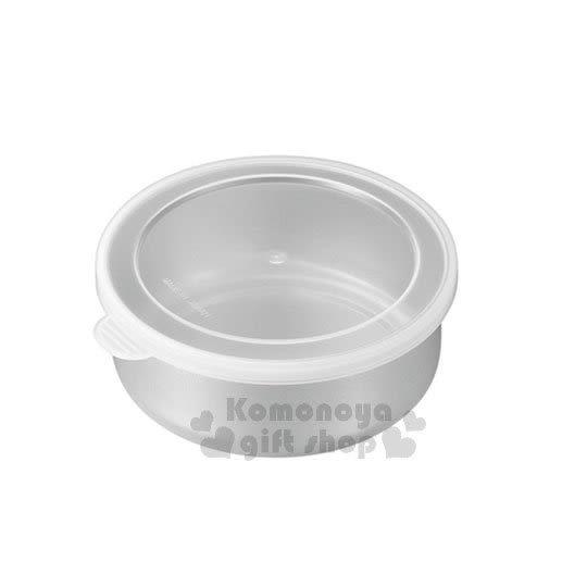 〔小禮堂〕日製不鏽鋼密封罐《S.不鏽鋼.白透.10.5cm》 4991203-17561