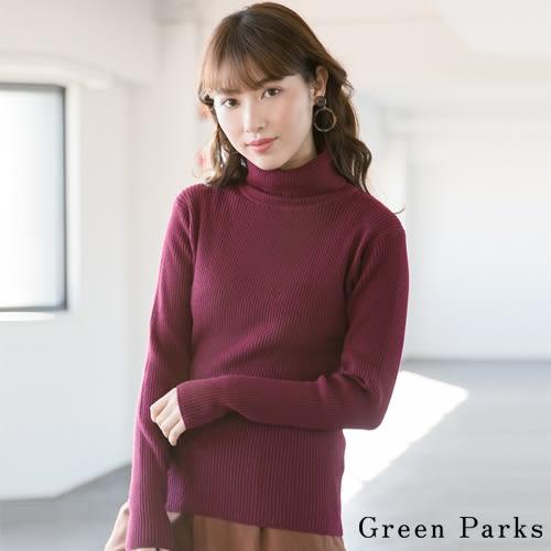 ❖ Winter ❖ 素雅高領羅紋針織上衣 - Green Parks