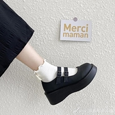 增高鞋日繫jk小皮鞋女學生學院風春秋夏季新款厚底增高黑色單鞋子 快速出貨