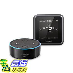 [107美國直購] 溫控器 Echo Dot (2nd Generation) - Black + Honeywell Lyric T5 Wi-Fi Thermostat