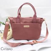Catsbag乾燥玫瑰簡約三層二用小方包 手提包 斜背包180123-1
