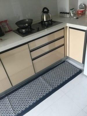 時尚創意地墊36 廚房浴室衛生間臥室床邊門廳 吸水長條防滑地毯(43cm*200cm)
