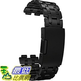[104美國直購] 手錶 金屬錶帶 PBSTL-BAND-MET Pebble Steel Metal Watchband Retail Packaging Matte Black