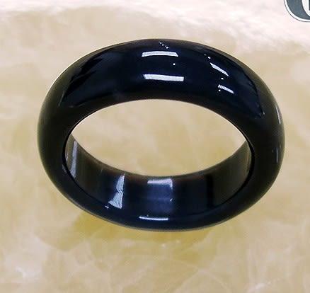 [協貿國際]天然黑玉髓戒指板指飾品(3入價)