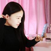 高清LED燈化妝鏡折疊鏡小號帶燈梳妝鏡台式雙面補妝鏡子