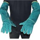 防咬手套寵物防咬防抓牛皮防護手套耐磨節加厚防抓傷工作勞保電焊手套超長 快速出貨