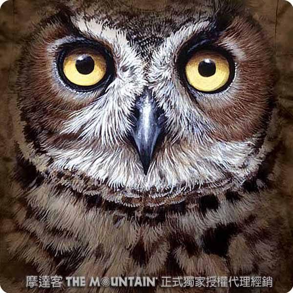 【摩達客】 (預購)(大尺碼3XL)美國進口【The Mountain】自然純棉系列 斑紋貓頭鷹 T恤(10413045045ab)