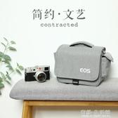 佳能相機包單反微單便攜可愛單肩男女攝影背包M6M100M5080D200D 有緣生活館