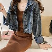 短款外套 2021春季新款復古港味牛仔外套女短款寬鬆韓版bf休閒牛仔衣夾克潮 韓國時尚 618