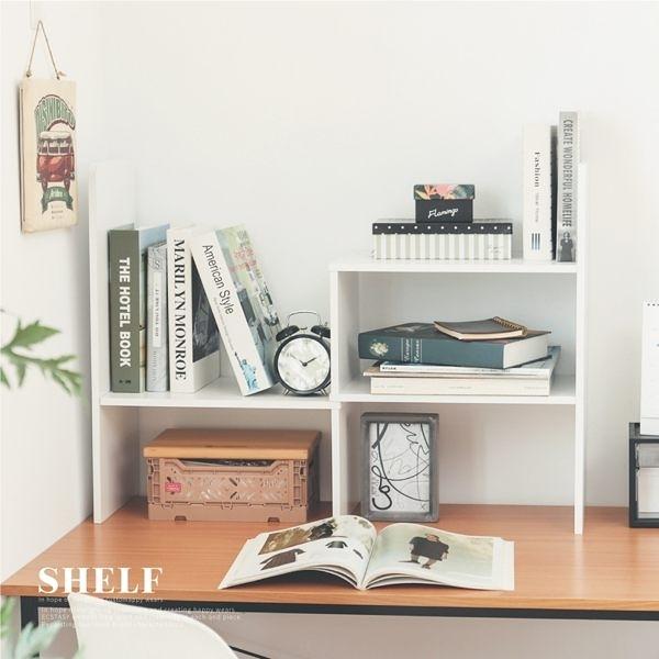 收納架 書架 伸縮 收納櫃 書櫃 活動櫃 雜誌架【N0071】Eve簡約桌上型伸縮書架 收納專科