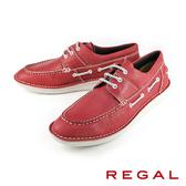 【REGAL】輕質時尚休閒鞋 紅色(55KR-RED)