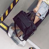 短途旅行包女手提行李袋男韓版輕便簡約大容量行李包健身包防水潮 貝兒鞋櫃 全館免運