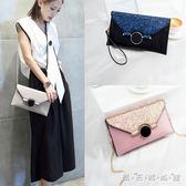 手拿包女新款潮韓版側背包單肩鍊條小包包百搭個性時尚信封包 晴天時尚館