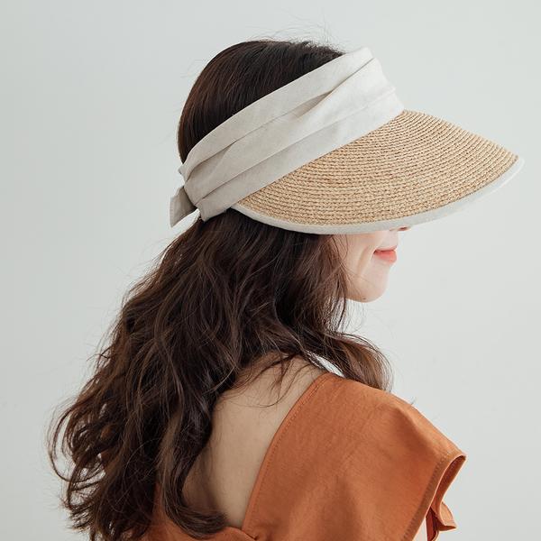 MIUSTAR 可調式乾草編織防曬遮陽帽(共2色)【NH1819】預購