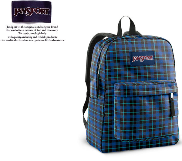 【橘子包包館】JANSPORT 後背包 SUPER BREAK JS-43501 細格藍