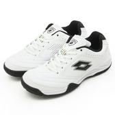 LOTTO 多功能運動鞋--白色學生鞋--ROMA--白黑--2058-2--男