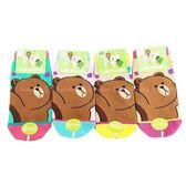 【KP】熊大歡呼兒童襪 直版襪 LINE 卡通襪 襪子 短襪 15-22cm DTT0522131