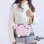斜背包小包包女生可愛卡通毛毛絨日系少女個性包包【邻家小鎮】
