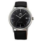 ORIENT東方錶 DATEⅡ 醇黑簡潔手動上鍊機械腕錶-黑x40mm FAC0000DB0