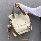 北包包日系原宿風帆布包斜挎手提包2020韓版學生復古大容量單肩包 koko