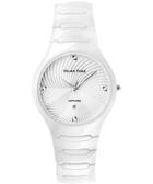 Relax Time 時尚藍寶石晶鑽陶瓷手錶-白/36mm R0800-26-01WT